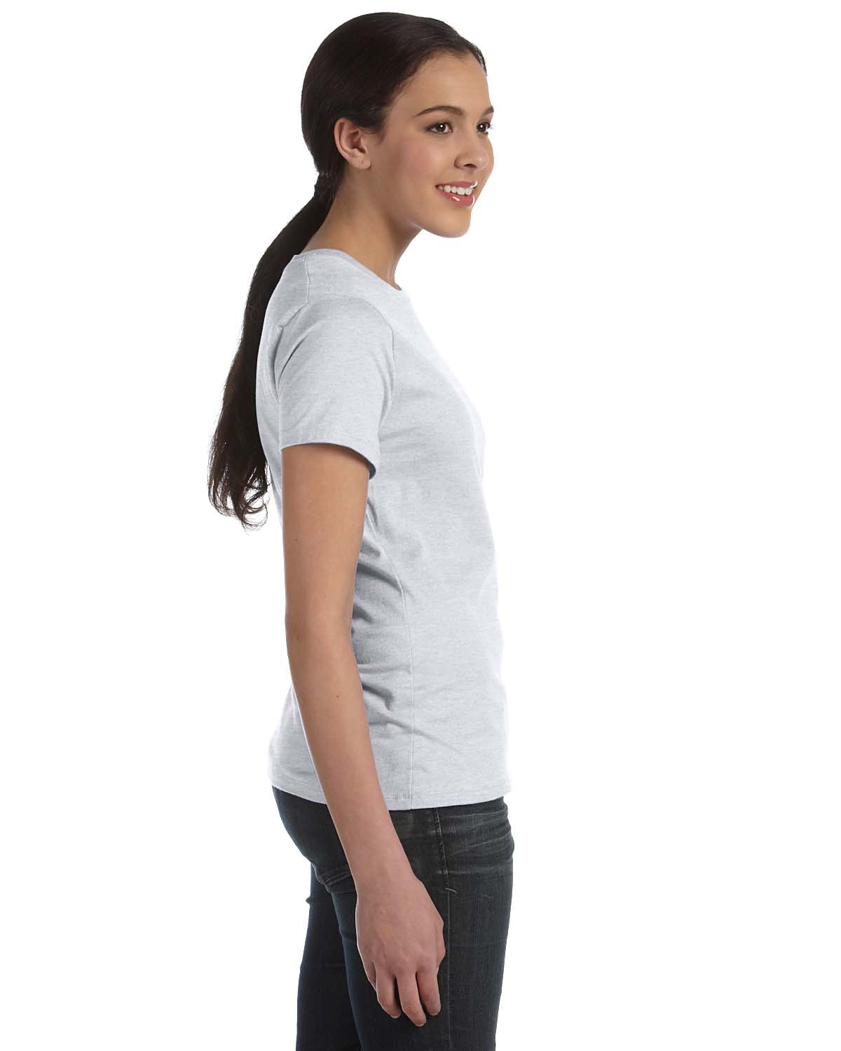'Hanes SL04 Ladies' Ringspun Cotton nano-T T-Shirt'
