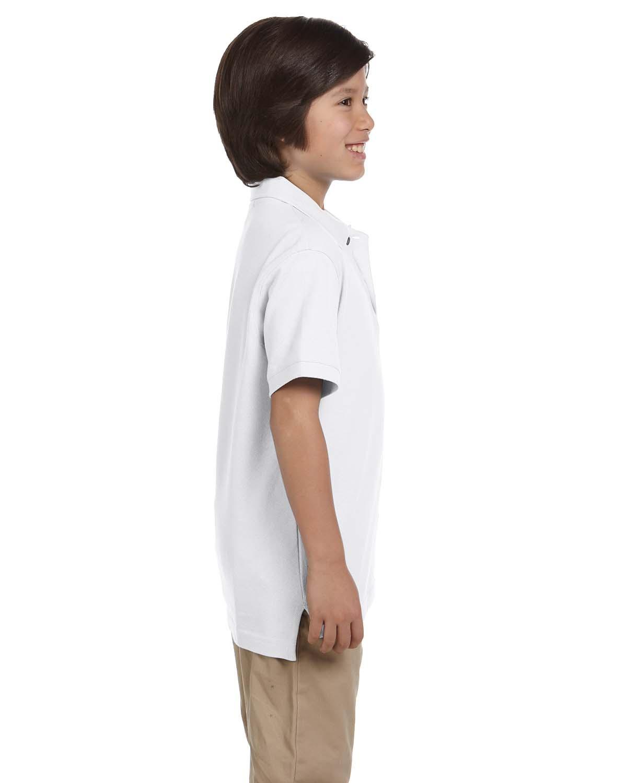 'Harriton M200Y Youth Ringspun Cotton Piqué Short-Sleeve Polo'