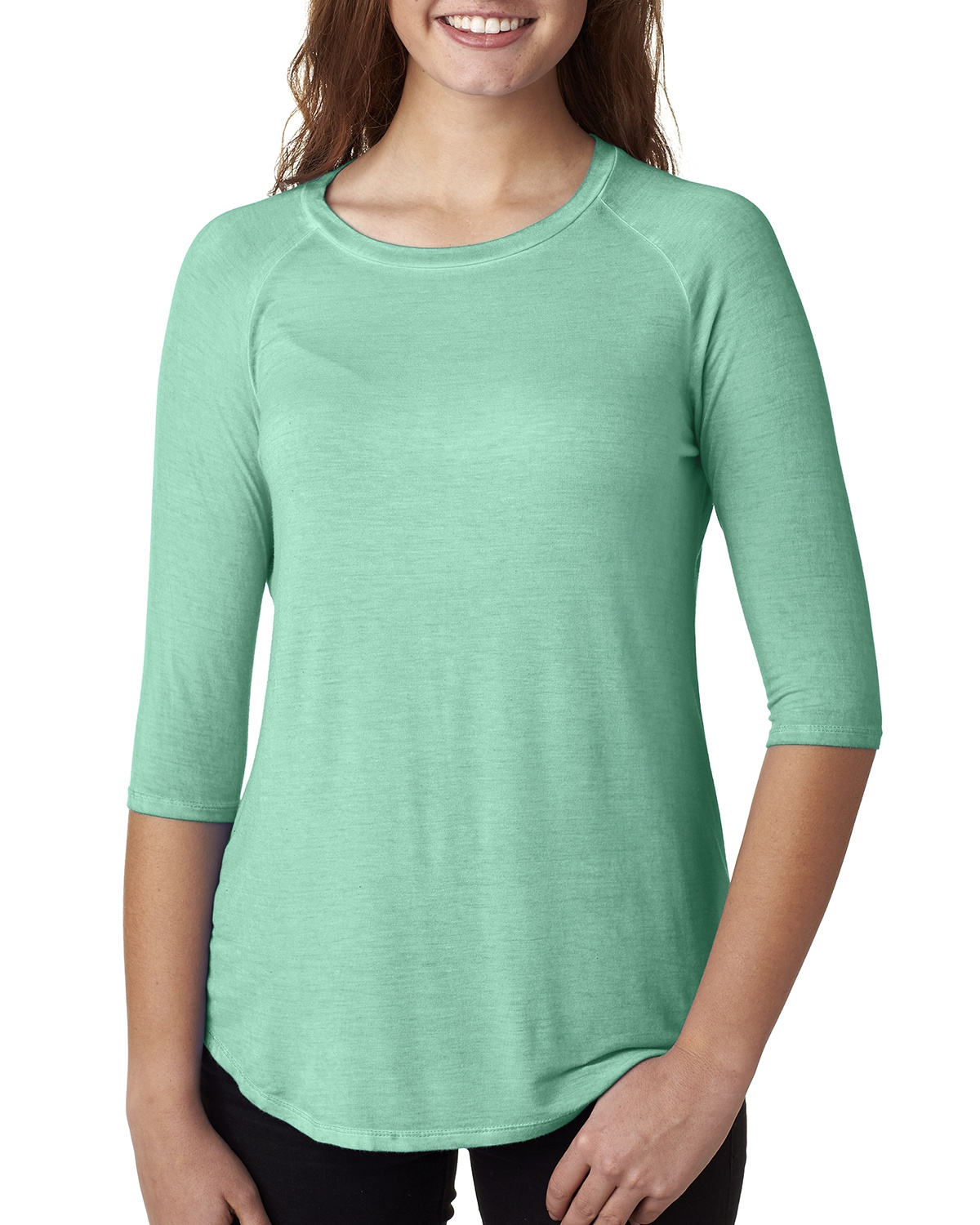 'J America JA8232 Ladies' Oasis Wash 3/4-Sleeve T-Shirt'