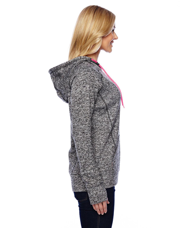 'J America JA8616 Ladies Cosmic Contrast Fleece Hoodie'