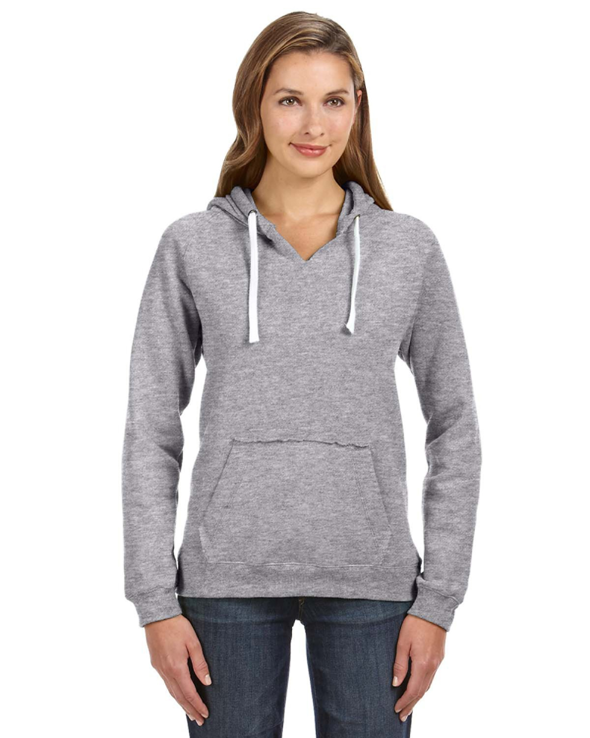 3ec4e3e7a J America JA8836 | Buy Ladies' Sydney Brushed V-Neck Hood ...