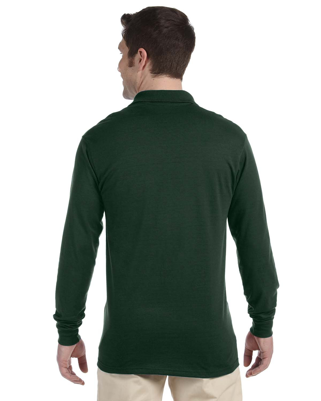 'Jerzees 437ML Adult SpotShield Long Sleeve Jersey Polo Shirt'