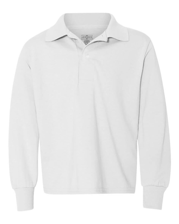 'Jerzees 437YL Youth SpotShield Long-Sleeve Jersey Polo'