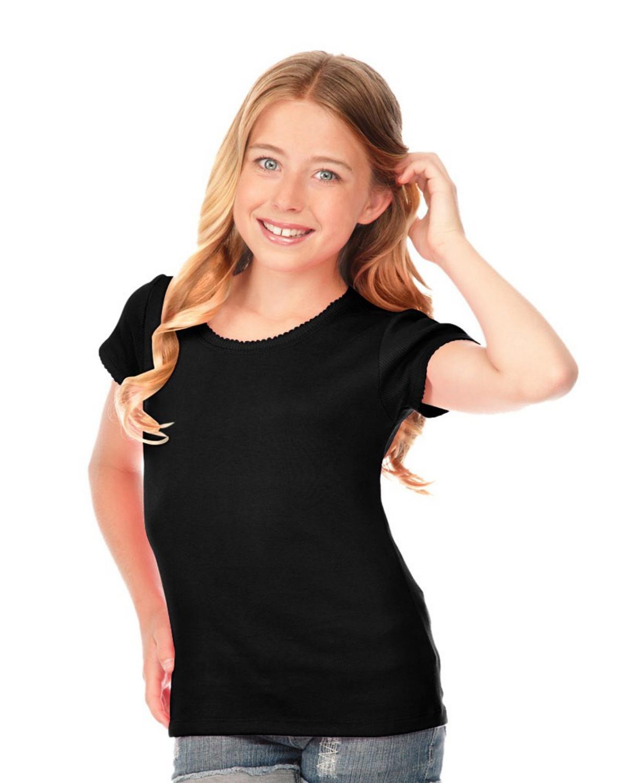 4b468813ab8cf0 Kavio G1C0329 Girl's 7-16 Scalloped Scoop Neck Top - VeeTrends.com
