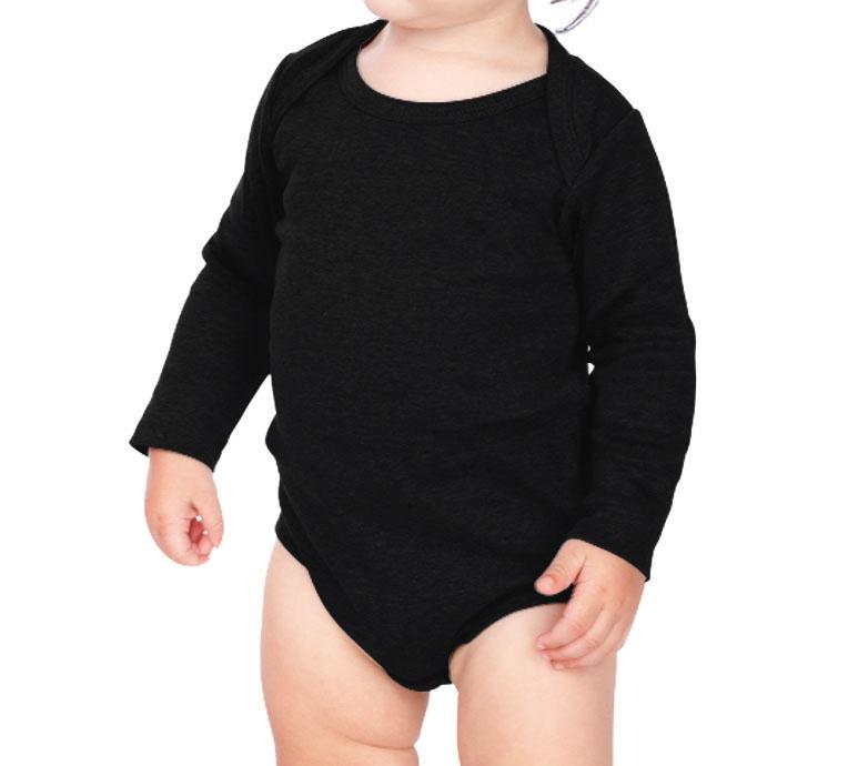 'Kavio IIC0587 Infant Interlock Lap Shoulder Long Sleeve Bodysuit'