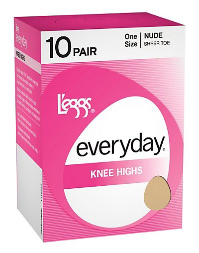 'L'eggs 39800 Women's Everyday Knee Highs St 10 Pair'