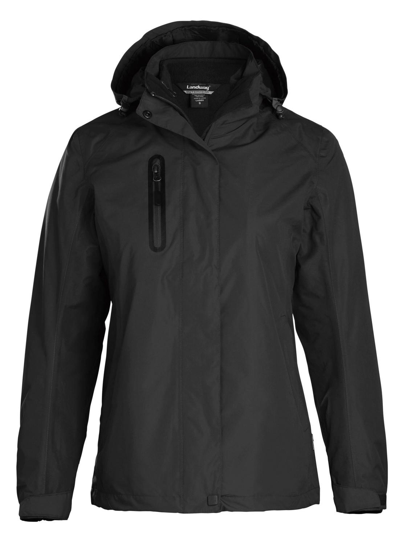'Landway 7752 Women's Fleece Zippered Hooded Parka'