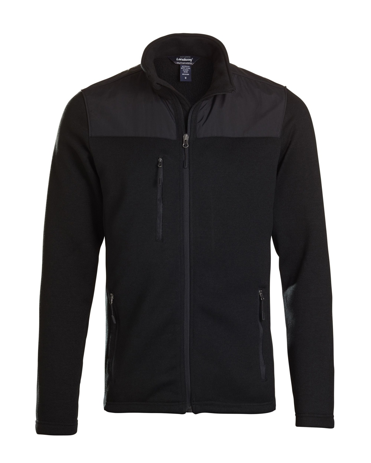 'Landway 9888 Men's Wind Resistant Sweater Fleece Jacket'