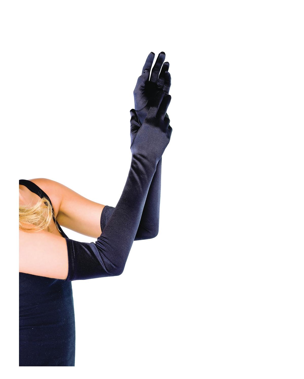 'Leg avenue UA16BBK Gloves Satin Long Black'