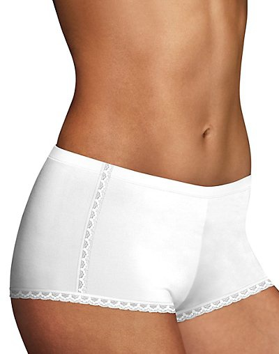 'Maidenform DM0021 Maidenform One Fab Fit Cotton Boyshort with Lace'