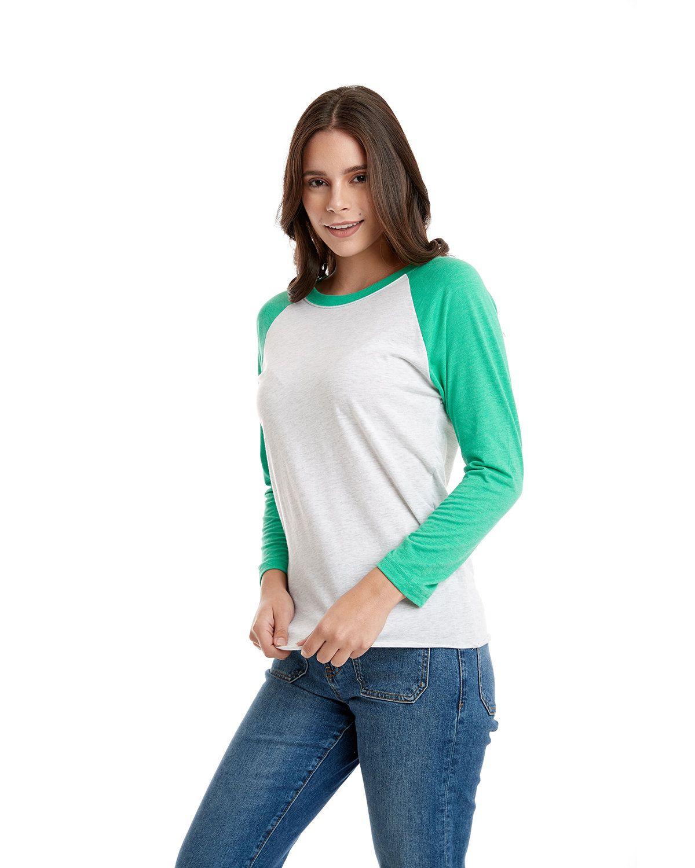 'Next Level 6051 Unisex Triblend 3/4-Sleeve Raglan T-Shirt'