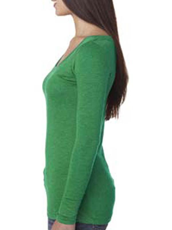'Next Level 6731 Ladies' Triblend Long-Sleeve Scoop'