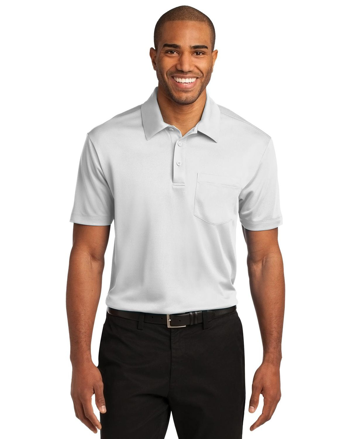 'Port Authority K540P Silk Touch Performance Pocket Polo Shirt'