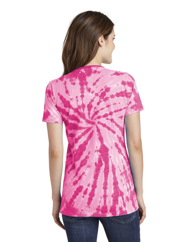 'Port & Company LPC147V Ladies Tie-Dye V-Neck Tee'