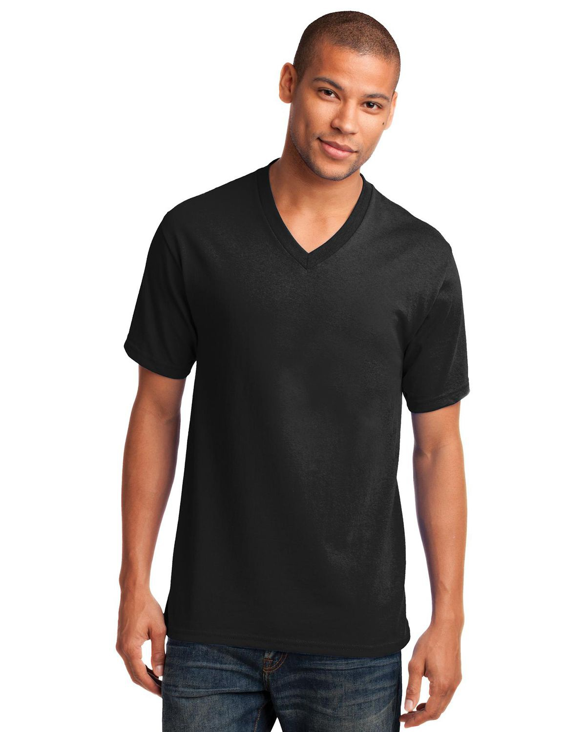 d56e5c108796 Port & Company PC54V | Buy Core Cotton V-Neck Tee - VeeTrends.com