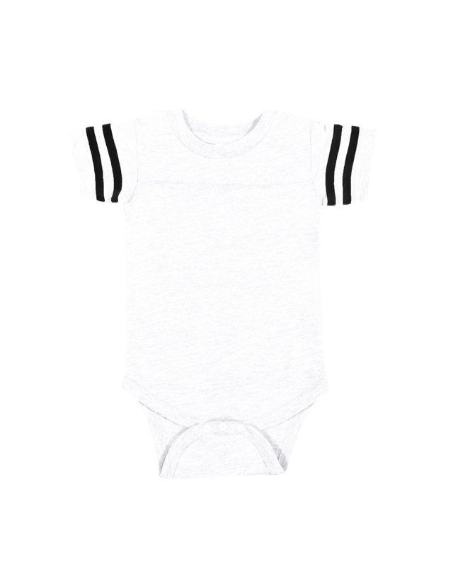 'Rabbit Skins 4437 Infant Football Fine Jersey Bodysuit'