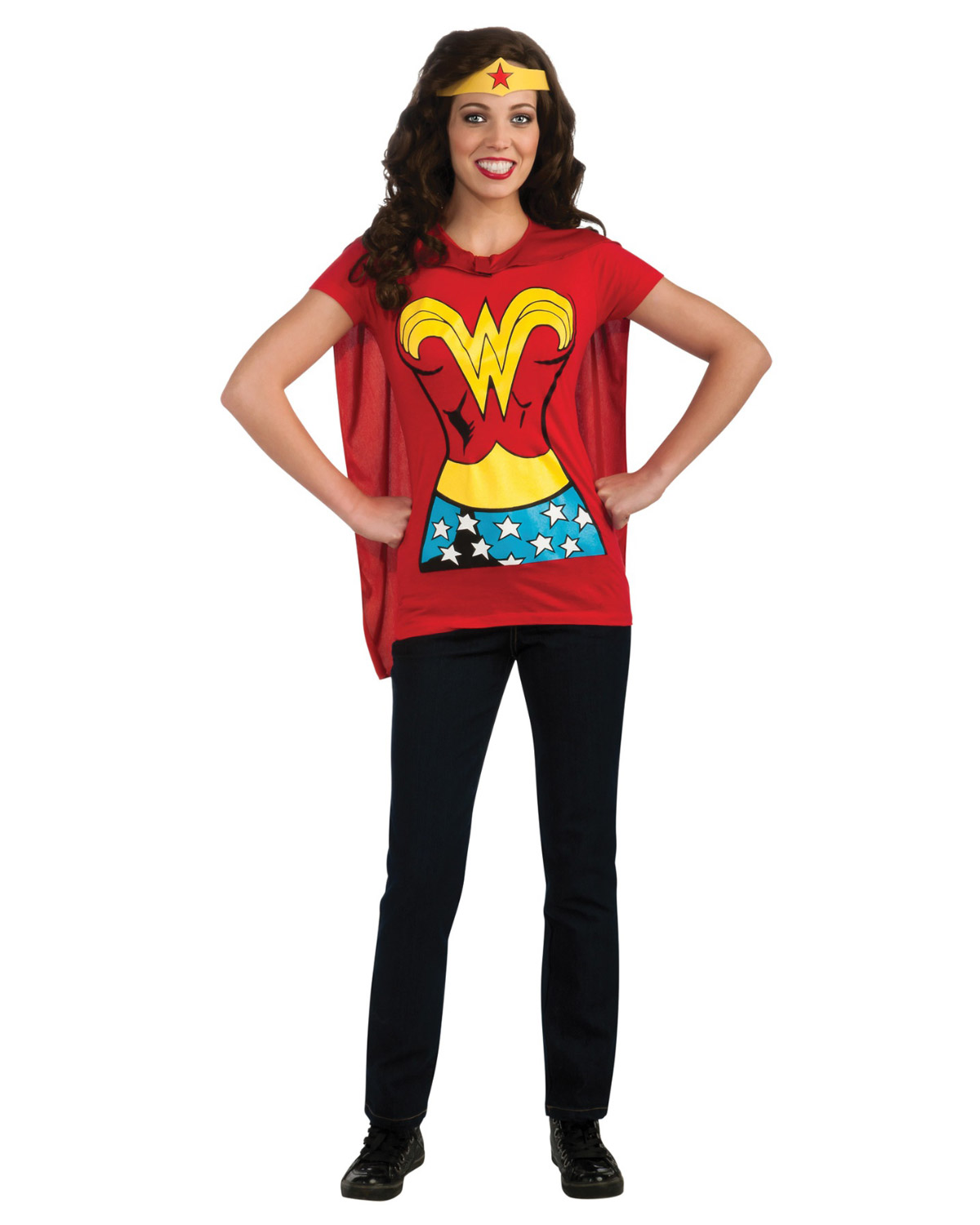'Rubies RU880475MD Wonderwoman Shirt Medium'