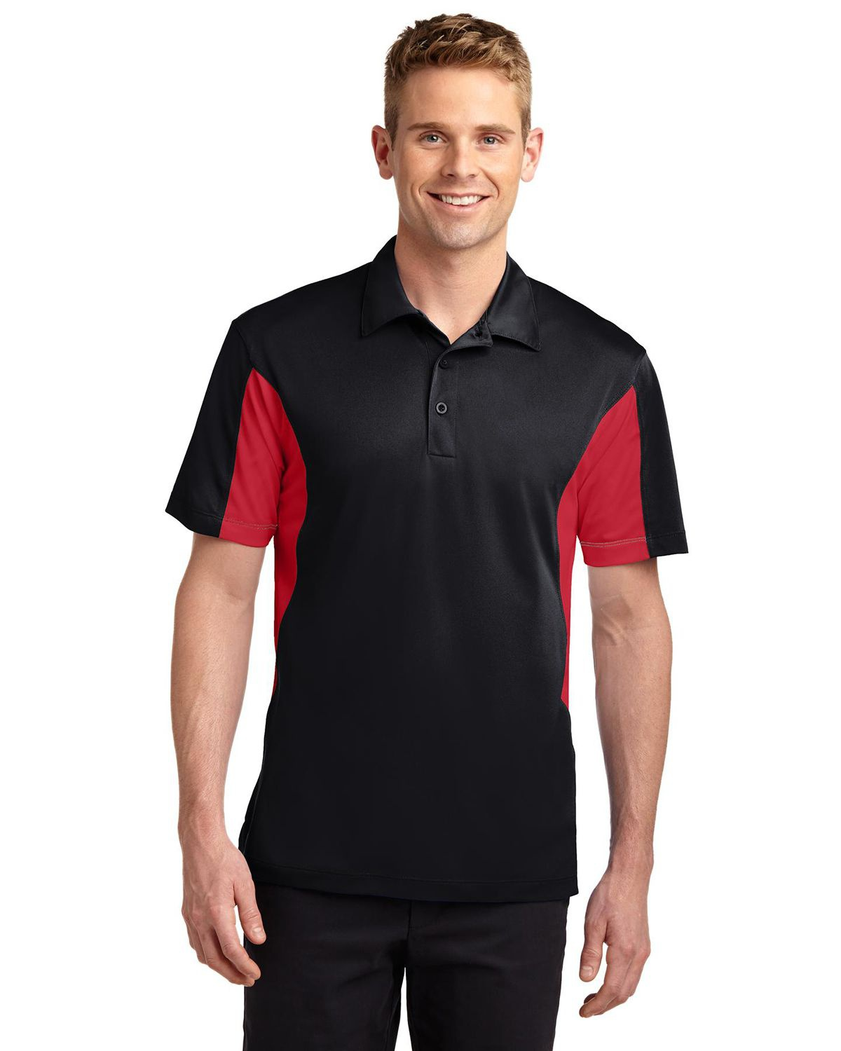 'Sport Tek TST655 Tall Side Blocked Micropique Sport-Wick Polo'