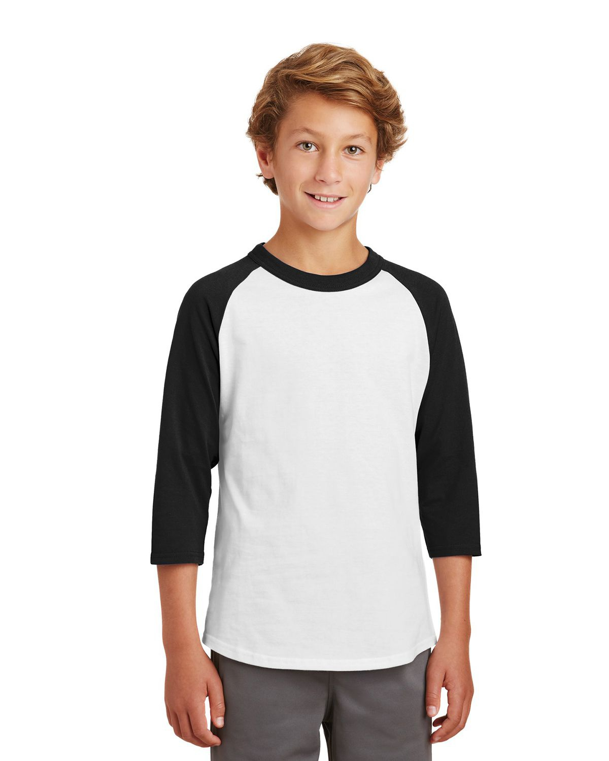 'Sport Tek YT200 Youth Colorblock Raglan Jersey'