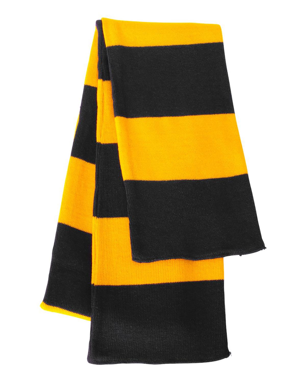 'Sportsman SP02 Rugby Striped Knit Scarf'