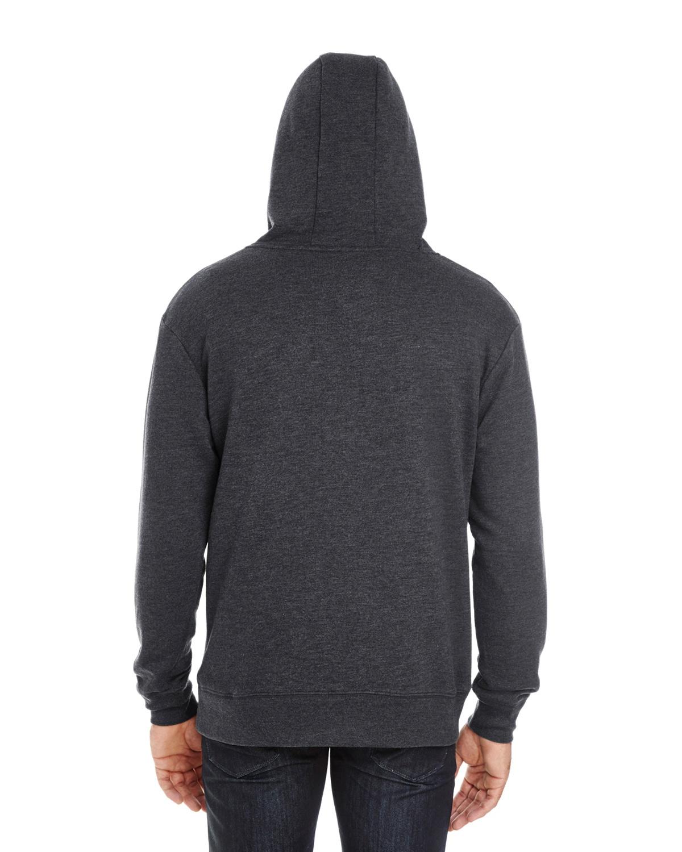 Threadfast Apparel Unisex Fleece Full-Zip Hooded Sweatshirt Small Army