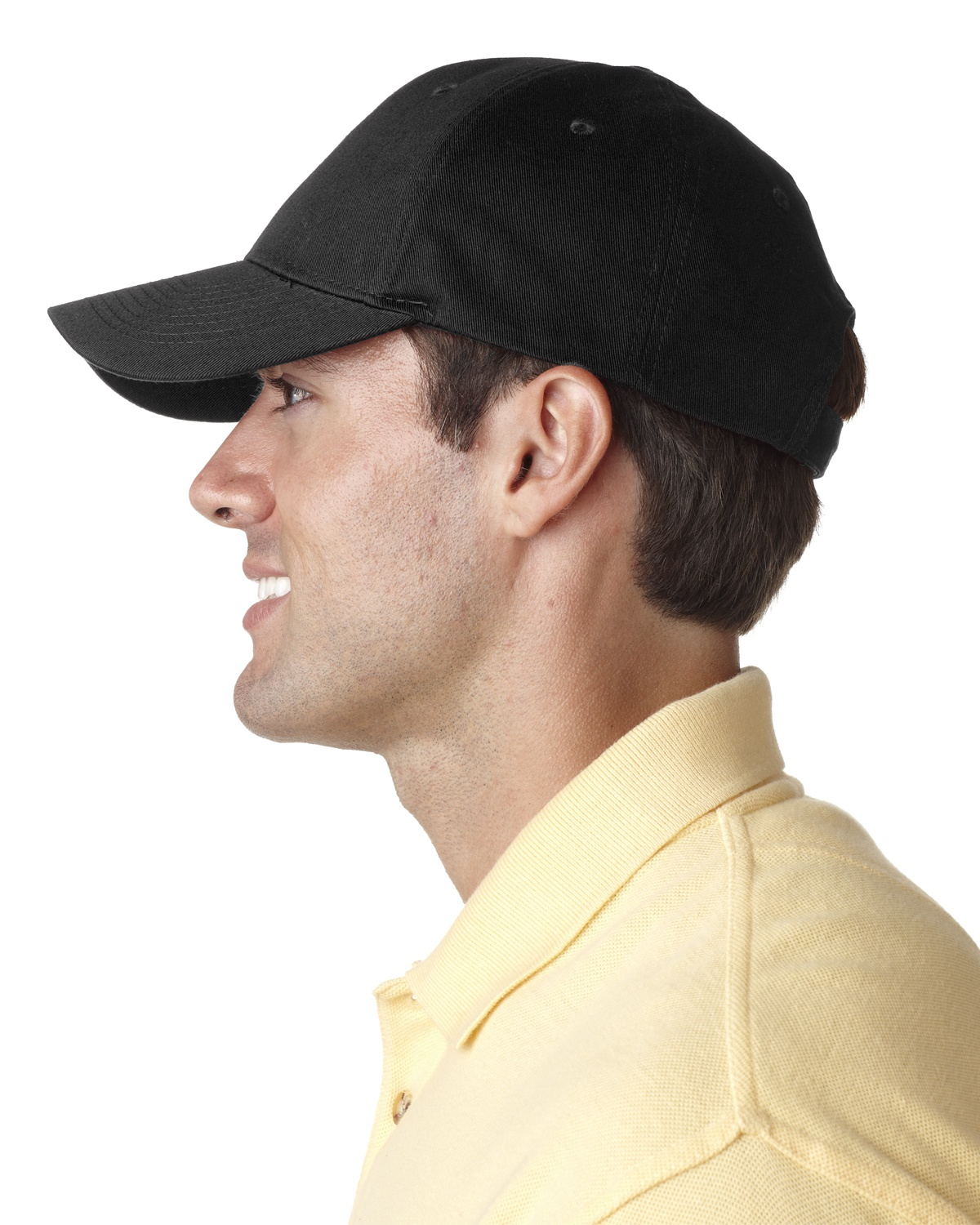 'UltraClub 8101 Adult Classic Cut Chino Cotton Twill Structured Cap'