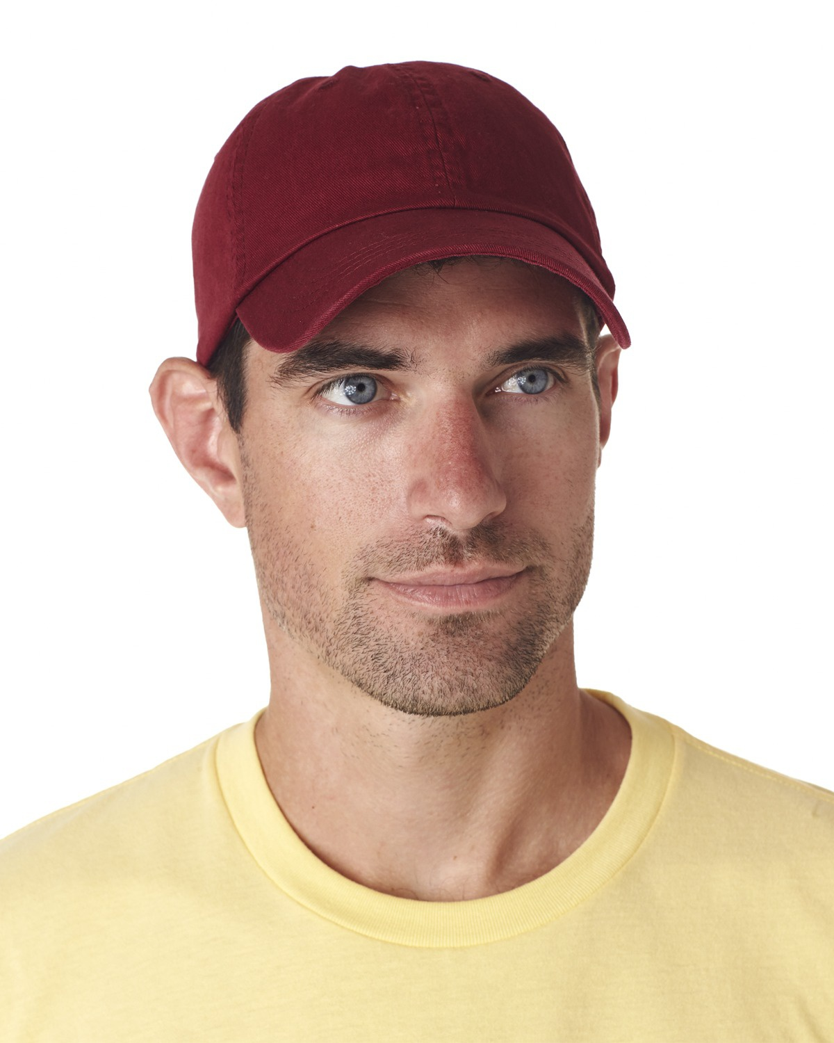 'UltraClub 8102 Adult Classic Cut Chino Cotton Twill Unstructured Cap'