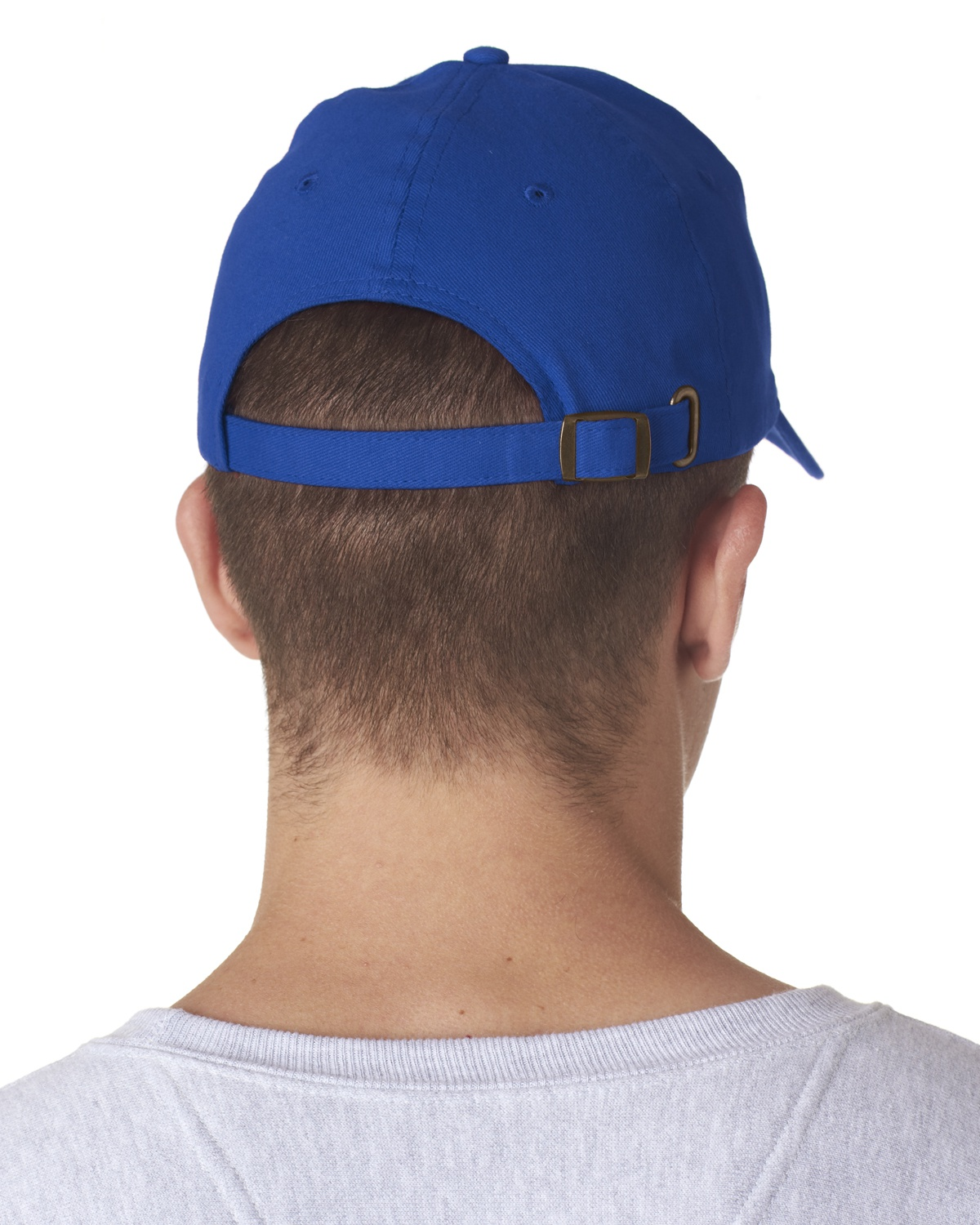 'UltraClub 8110 Adult ClassicCut Brushed Cotton Twill Structured Cap'