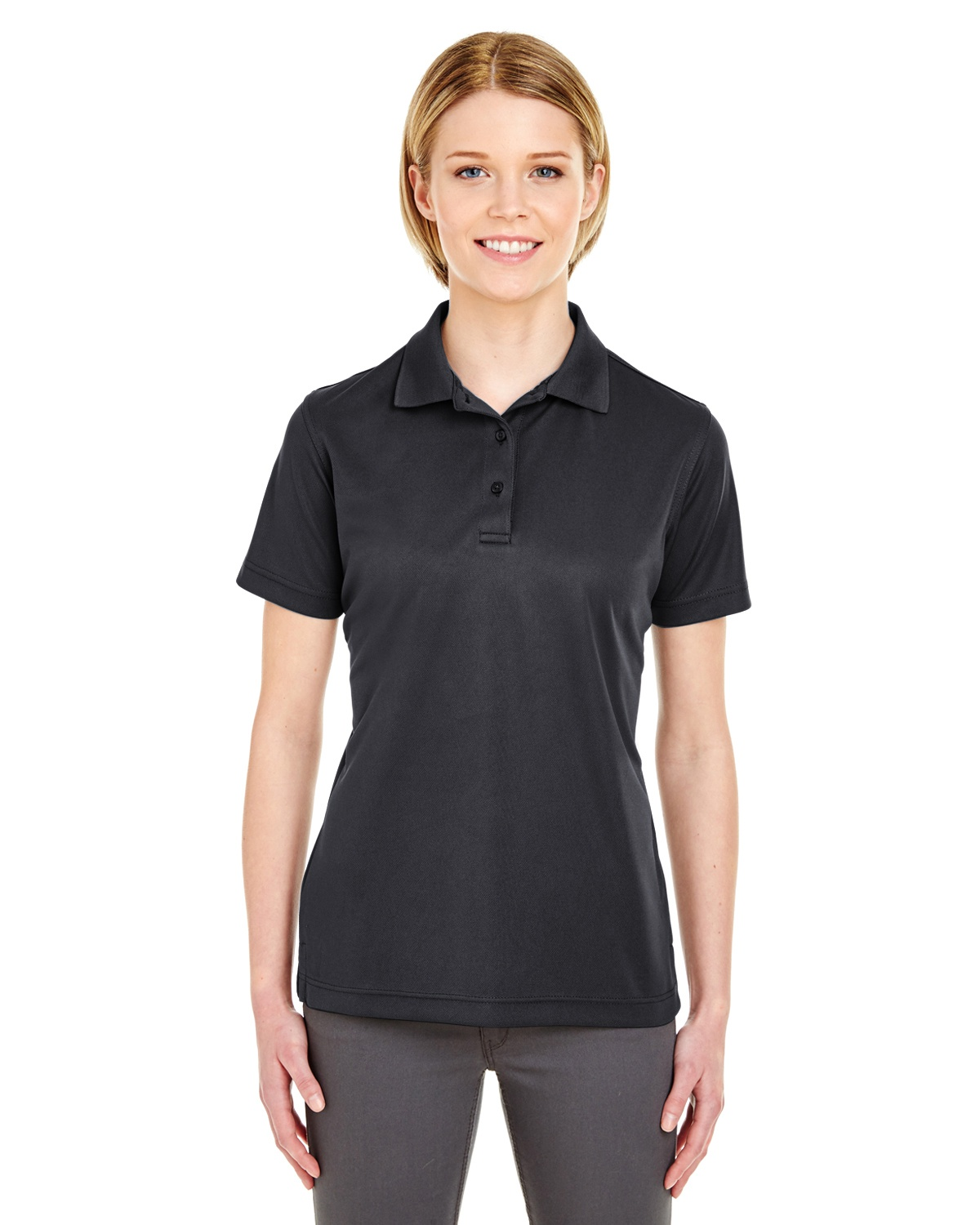 'UltraClub 8210L Ladies' Cool & Dry Mesh Piqué Polo'