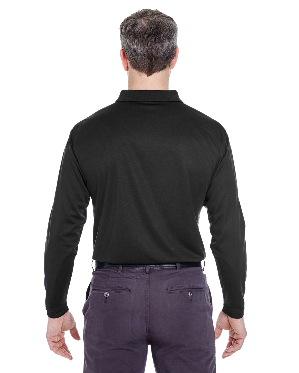 'UltraClub 8405LS Adult Cool & Dry Sport Long-Sleeve Polo'