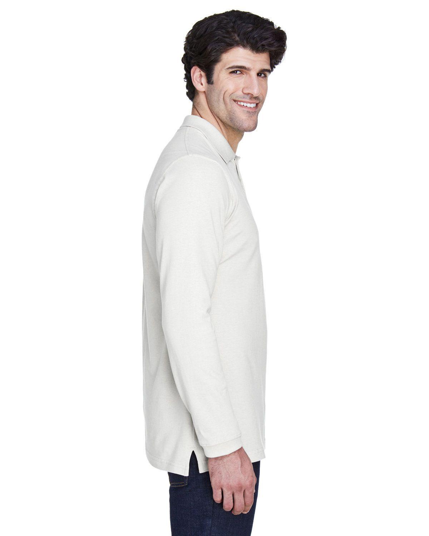 'UltraClub 8532 Adult Long Sleeve Classic Pique Polo Shirt'